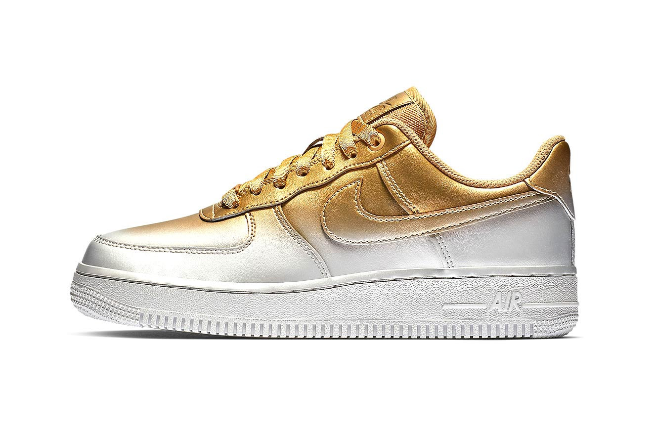 Air Force 1 in Gold and Silver Paint