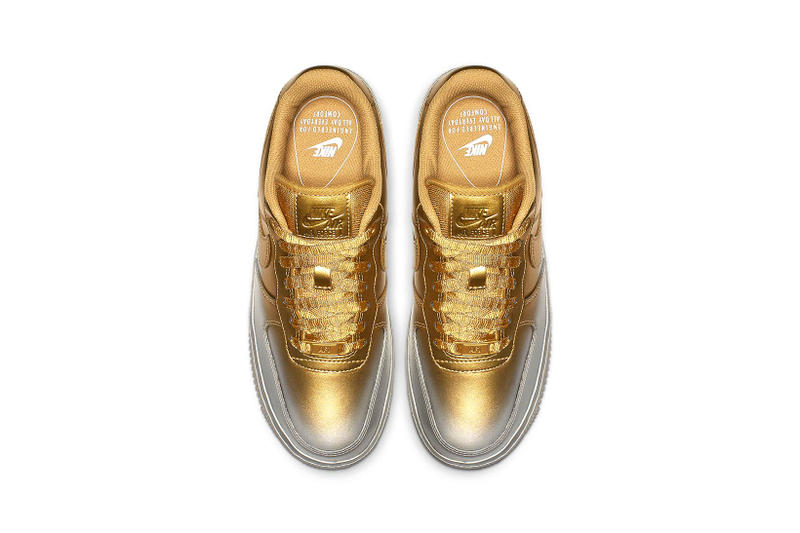 Nike Air Force 1 Gold Silver Paint