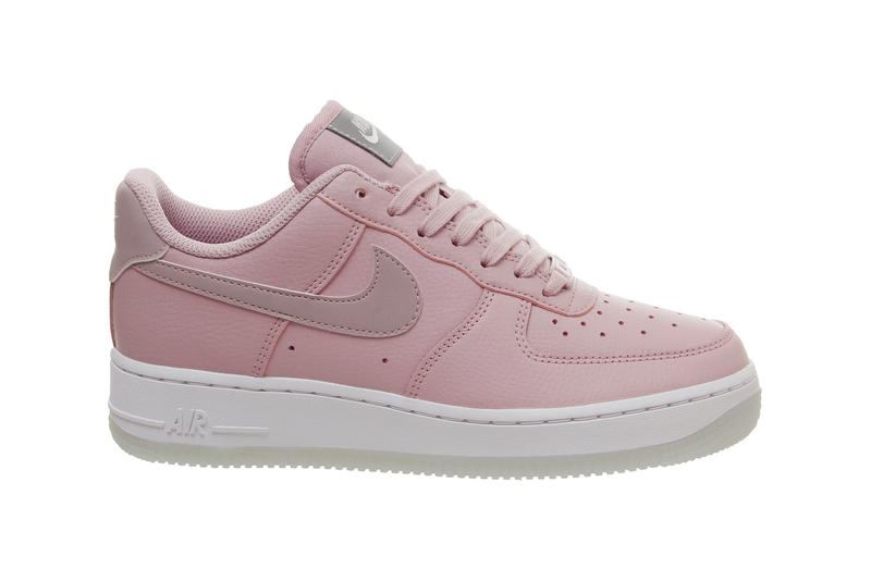 Nike Air Force 1 Plum Chalk Metallic Luster Pink Silver Sneakers Trainers