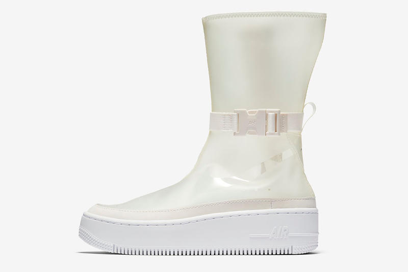 huge selection of 25c32 e6097 Nike Air Force 1 Sage High Lux Phantom Translucent Sneakers Trainers