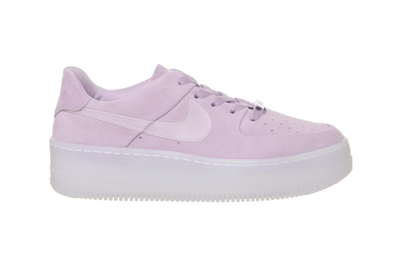 717cacf1f310 Nike Air Force 1 Sage Low Pastel Violet Mist Suede Sneakers Trainers