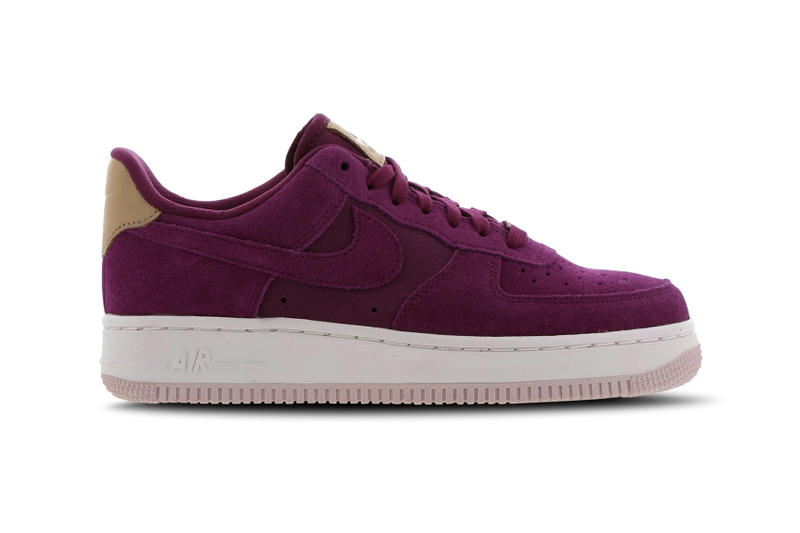 sale retailer 8f229 48a02 Nike Air Force 1 True Berry Pink Purple Suede Sneakers