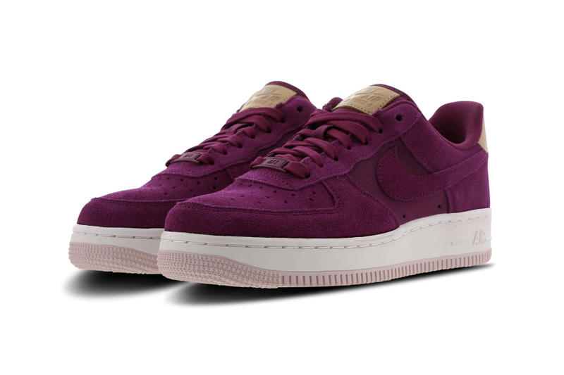 Nike Air Force 1 True Berry Pink Purple Suede Sneakers