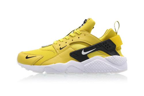 a79b55dd93ab Nike s New Air Huarache Run Premium Zip Is a Bright Yellow Sun Spot