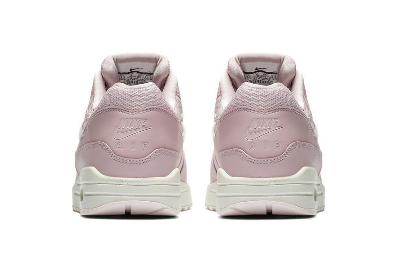 nike air max 1 giant jewel details swoosh logo tongue tag black pink cream tan glitter