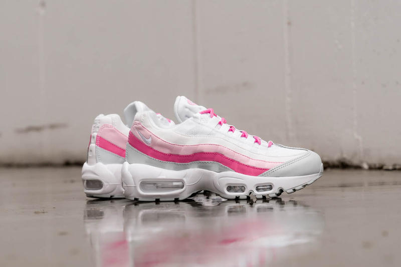 "Nike's Air Max 95 & Air Max 1 in ""Psychic Pink"" Sneaker Release White Retro"