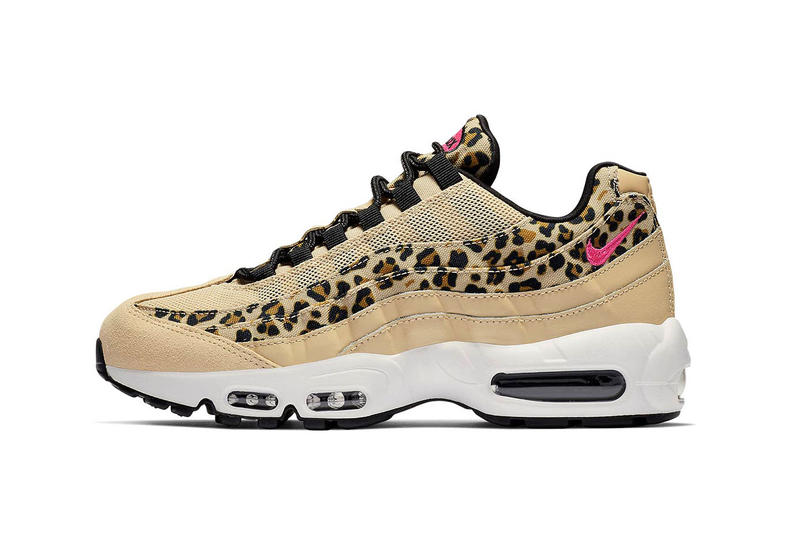 best website d8927 716a4 Nike Air Max 95 Leopard Print Tan Pink Swoosh