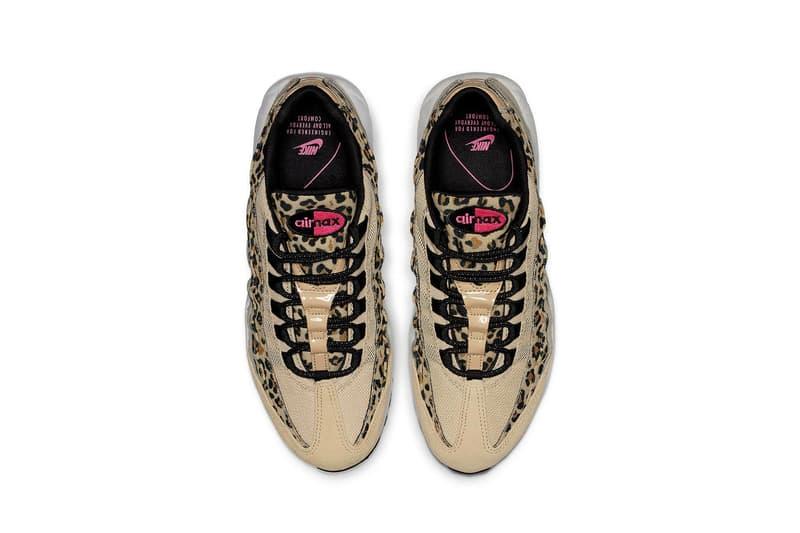 Nike Air Max 95 Leopard Print Tan Pink Swoosh