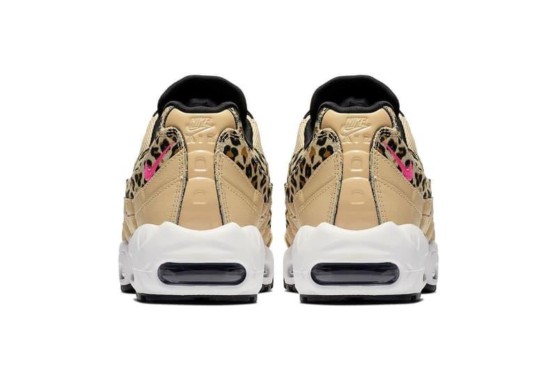 Nike s Air Max 95 Leopard Print and Pink Swoosh  aefb1c73d