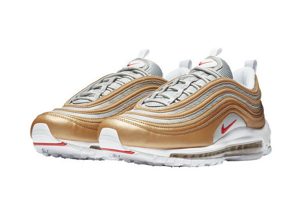 a04ba27d0728ab Nike Air Max 97 Golden White Red Sneaker