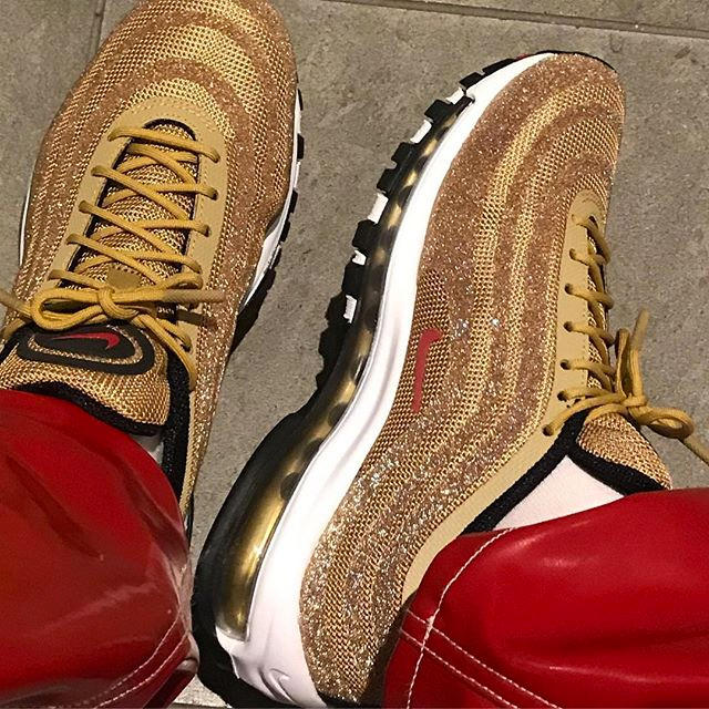 best sneakers 7550c 58b40 Nike Air Max 97 Swarovski Metallic Gold Ava Nirui avanope