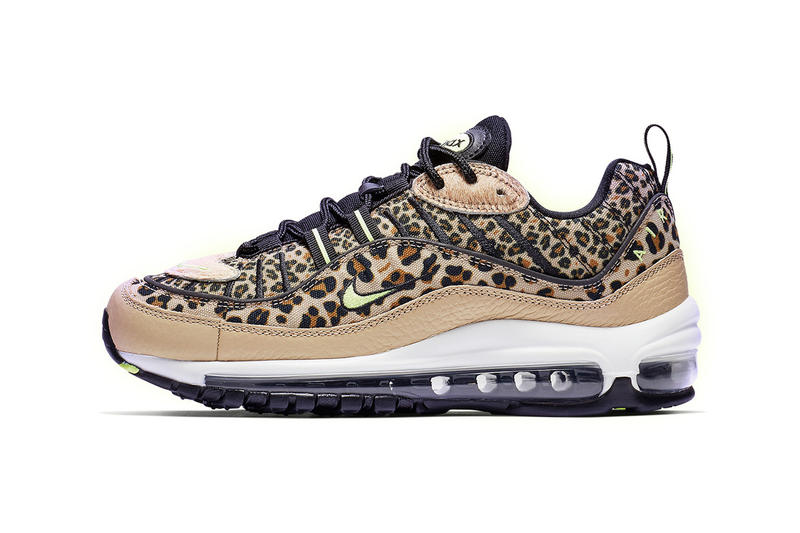 release date 319f3 d646a Nike Air Max 98 Leopard Print Yellow