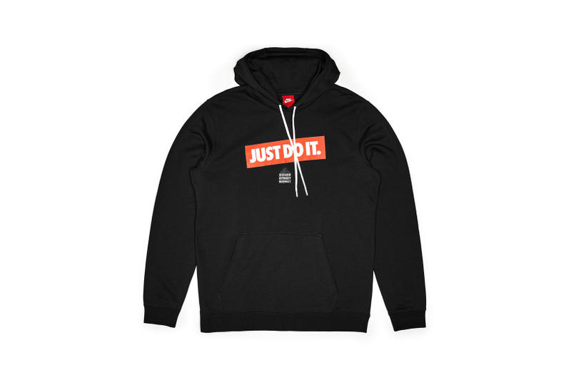 Nike x Dover Street Market Just Do It Hoodie Black