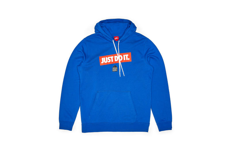 Nike x Dover Street Market Just Do It Hoodie Blue