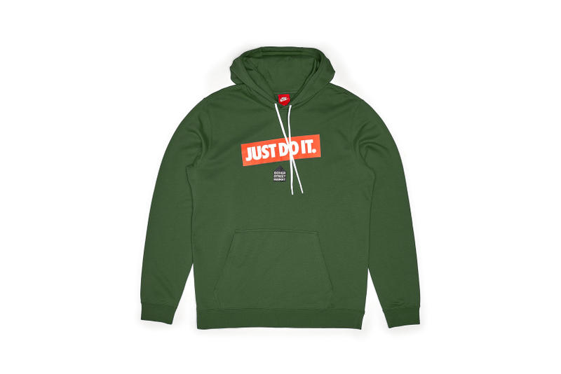 Nike x Dover Street Market Just Do It Hoodie Green