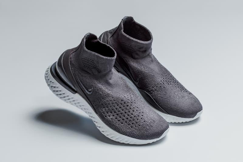 f04e790c7e0eb Nike Rise React Sock Sneaker Dusky Rust Pink Thunder Grey