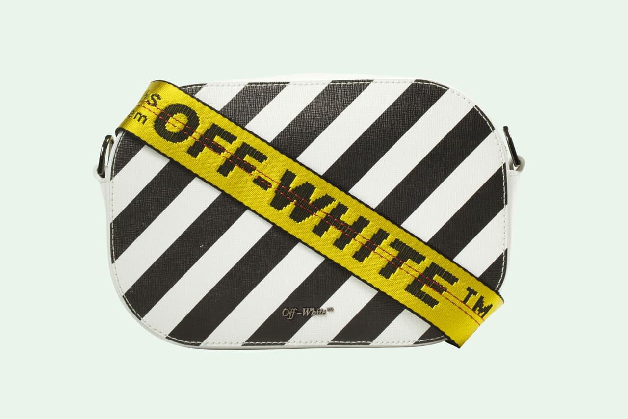 Off White Camera Bag White Black Striped