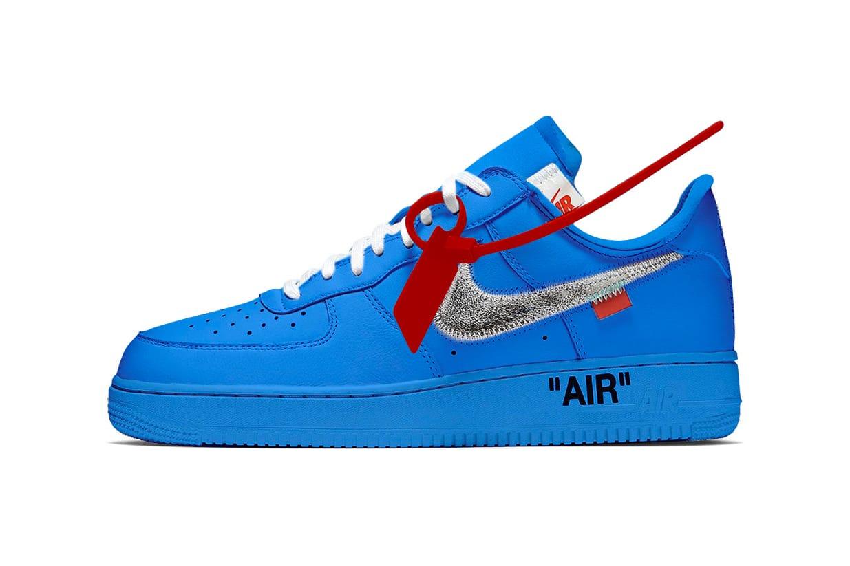 Off,White x Nike Air Force 1 Blue