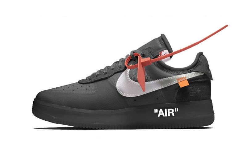 Off White Nike Air Force 1 Volt Black