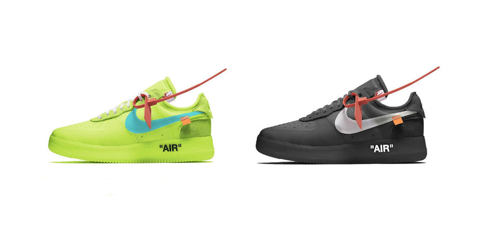 Off White X Nike Air Force 1 Volt Store List Hypebae