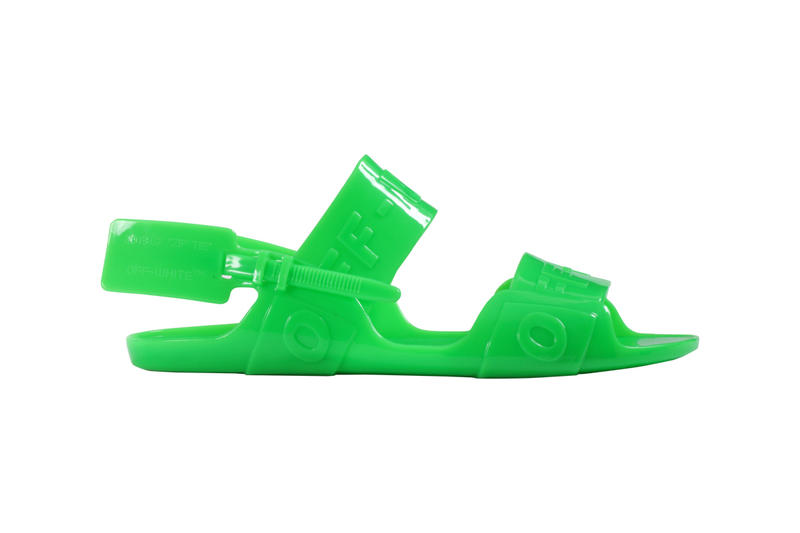 Off-White Zip Tie Jelly Sandal Green