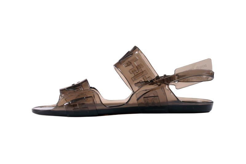 Off-White Zip Tie Jelly Sandal Black