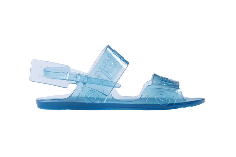 Off-White Zip Tie Jelly Sandal Blue