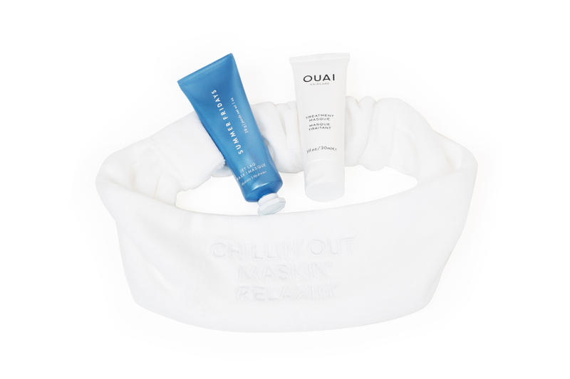 OUAI Treatment Masque Summer Fridays Jet Lag Mask Chillin Out Maxin Relaxin Cotton Headband Set