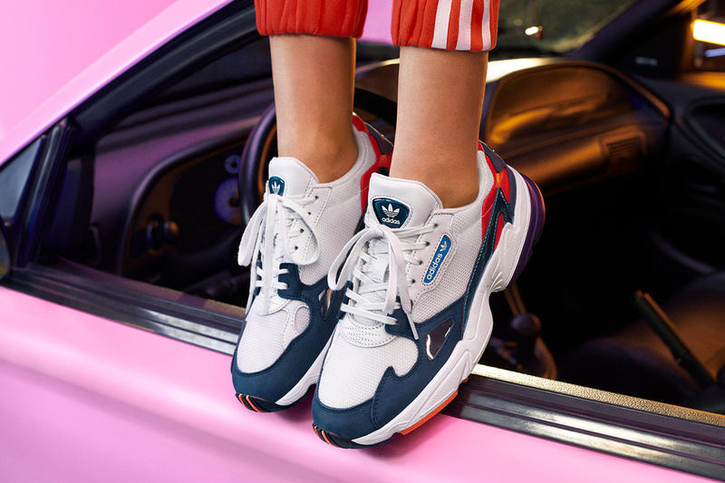 Kylie Jenner adidas Originals adidasCOEEZE Apparel Falcon Crystal White Collegiate Navy