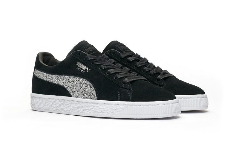 Swarovski PUMA Suede Classic Crystal Black Sneakers Trainers