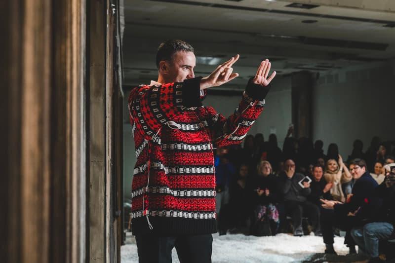 Raf Simons Fall Winter 2018 Runway Show New York Fashion Week Finale Red Black Sweater