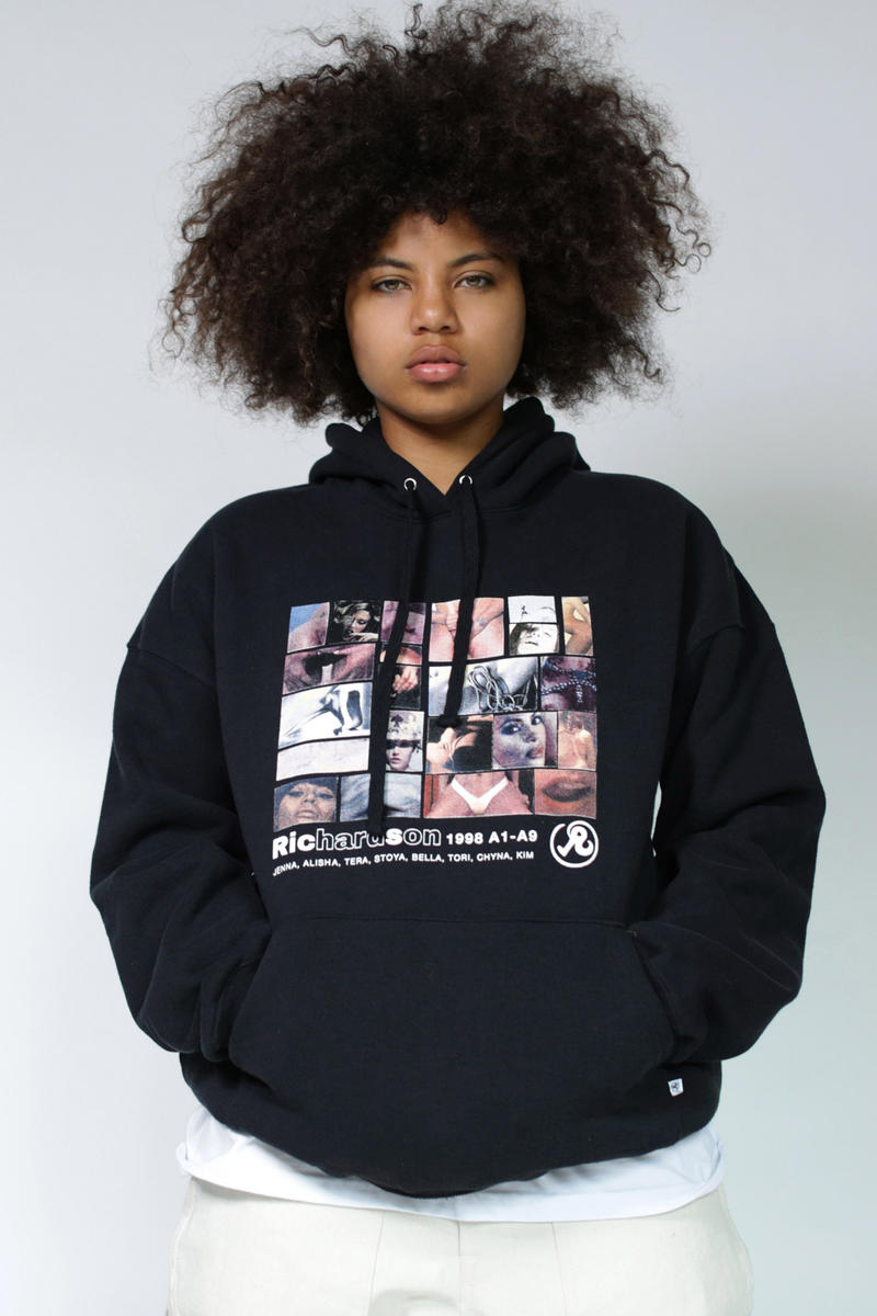 Richardson Holiday 2018 Collection Lookbook A9 Collage Hoodie Black