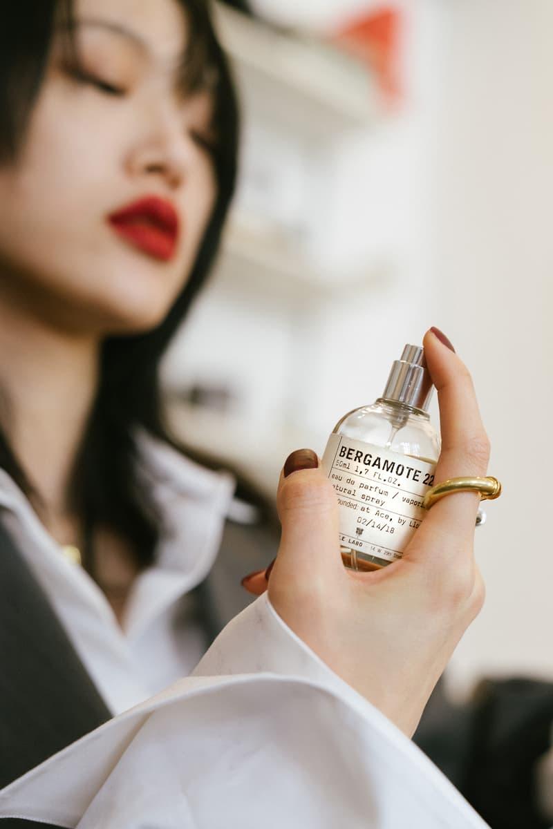 Sora Choi Korean Model Makeup Skincare Beauty Essentials Red Lip Black Hair Asian Supermodel bergamote 22 le labo fragrance perfume