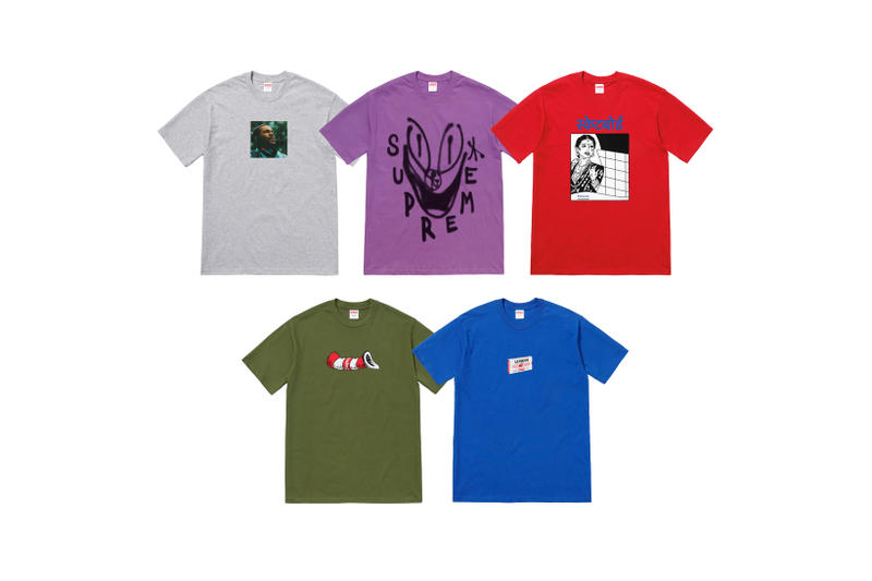 Supreme Marvin Gaye Fall Winter 2018 Collection T-Shirts Grey Purple Red Green Blue
