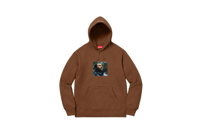 Supreme Marvin Gaye Fall Winter 2018 Collection Hoodie Brown