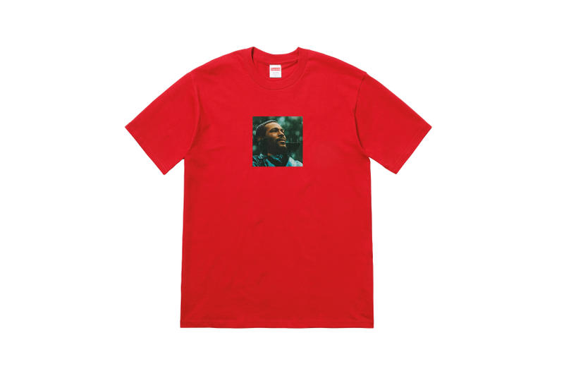 Supreme Marvin Gaye Fall Winter 2018 Collection T-Shirt Red