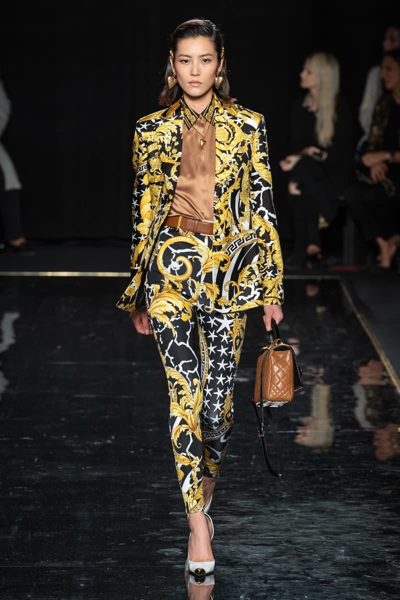 Versace Pre-Fall 2019 Runway Fashion Show New York Liu Wen Chinese Model