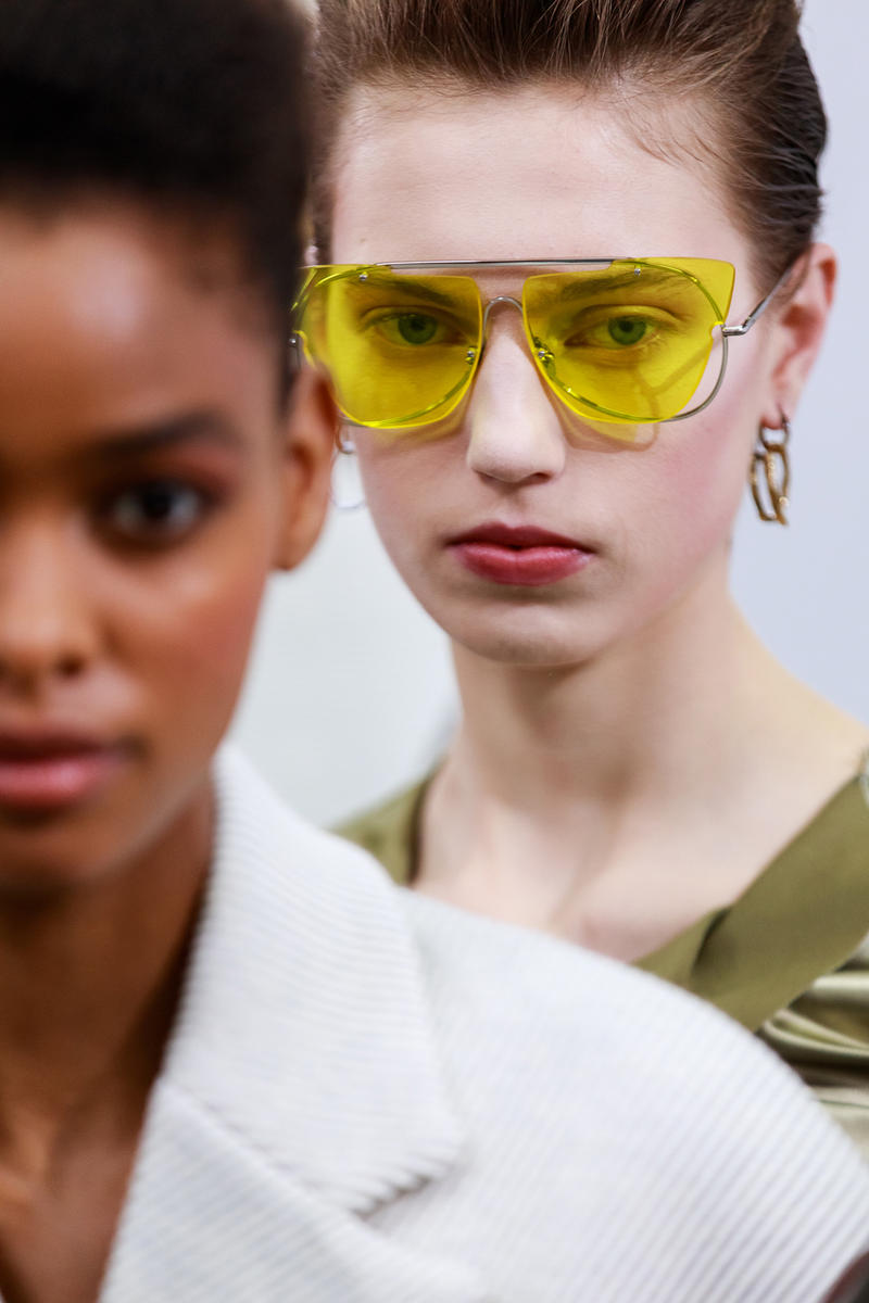 Acne Studios Fall Winter 2019 Show Backstage Paris Fashion Week Womenswear Johnny Johansson Coats Fur Bags Sunglasses Models