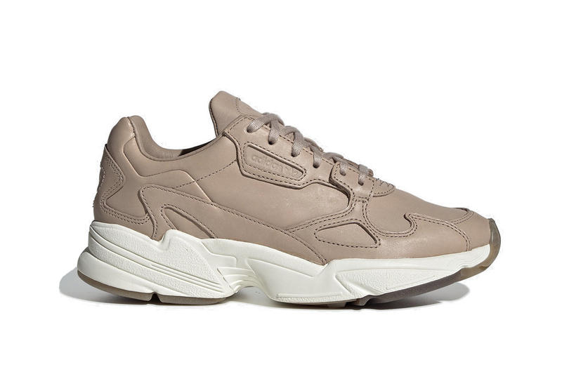 "adidas Falcon in Leather ""Ash Pearl"" Pink White Sneaker Shoe Chunky"