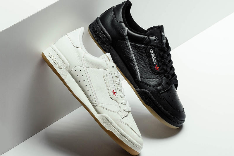adidas Originals Continental 80 Black White Gum Monochrome f8ffe23a7a1
