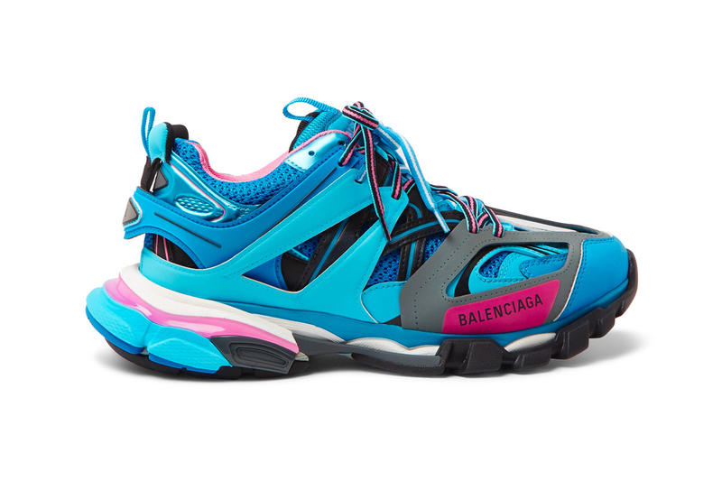 Balenciaga Unveils Its Latest Track Sneaker in Electrifying Blue. A cult  favorite. Balenciaga Track Sneaker Teal Blue Pink 5ba176877