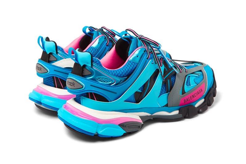Balenciaga Track Sneaker Teal Blue Pink