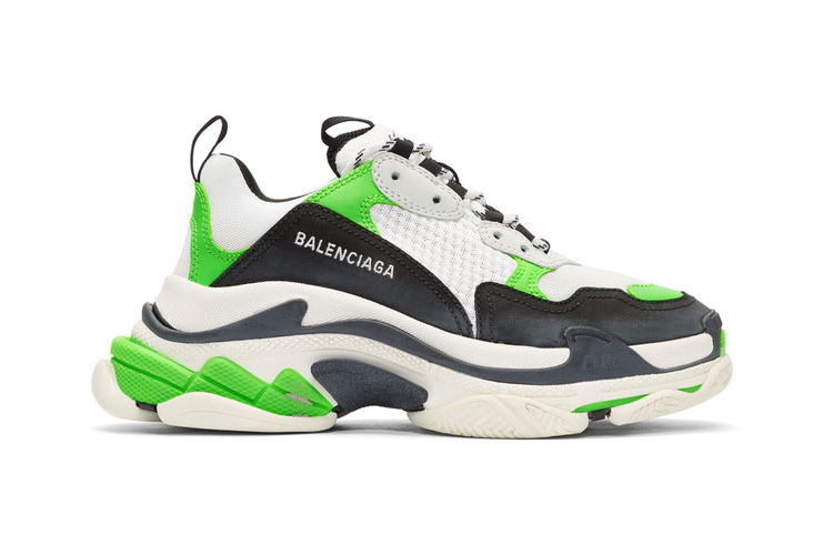 cd1febb75 Balenciaga Adds Fluorescent Green Hits to Its Chunky Triple-S Sneaker