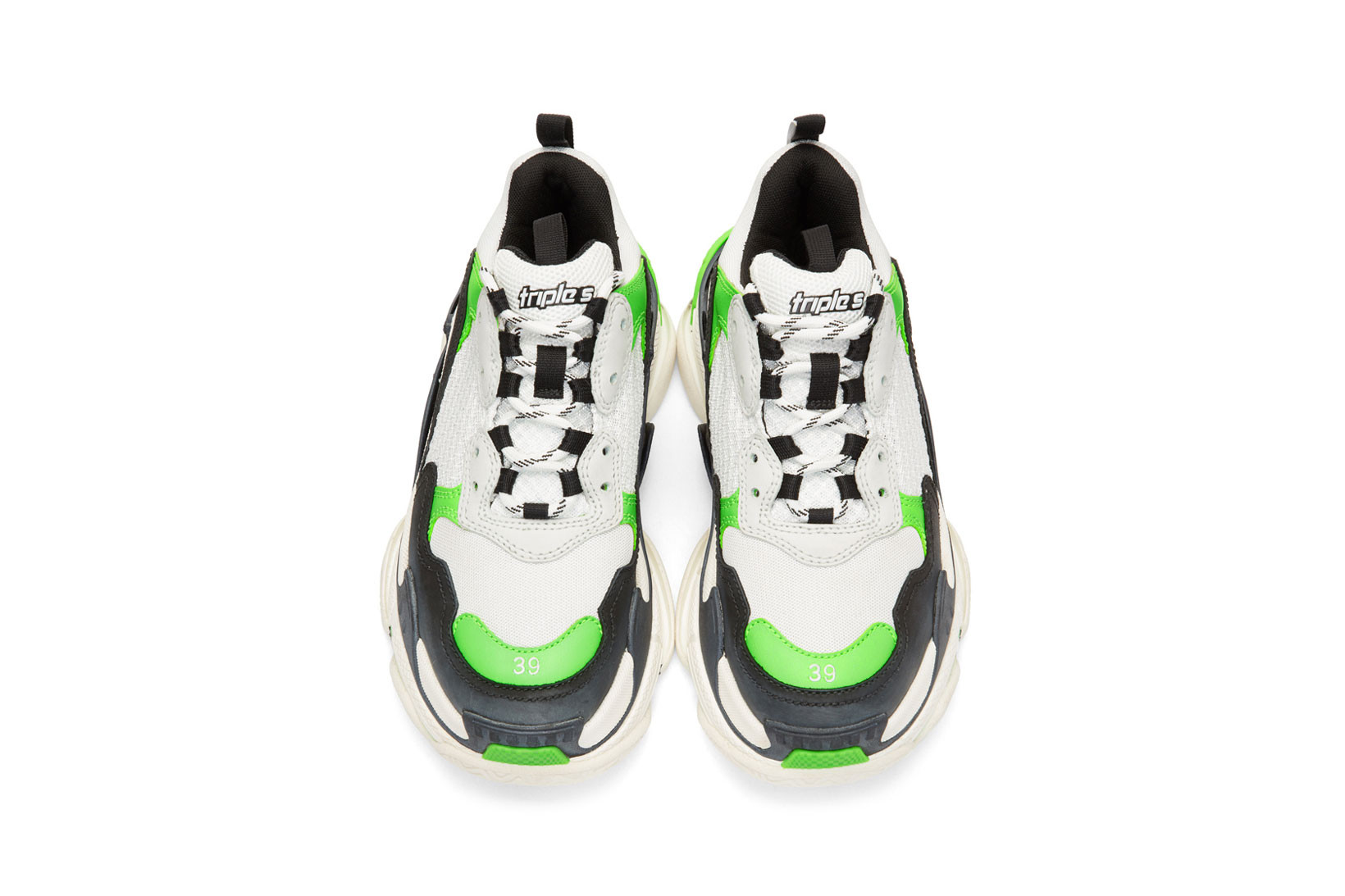 Balenciaga Black Burgundy Triple S Sneakers SSENSE UK