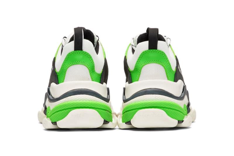 Balenciaga Triple S White Green