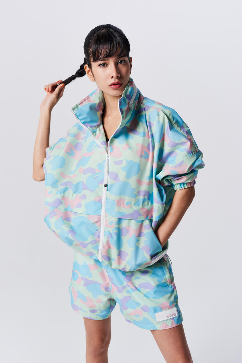 A Bathing Ape Spring Summer 2019 Collection Lookbook Jacket Shorts Light Blue Pink