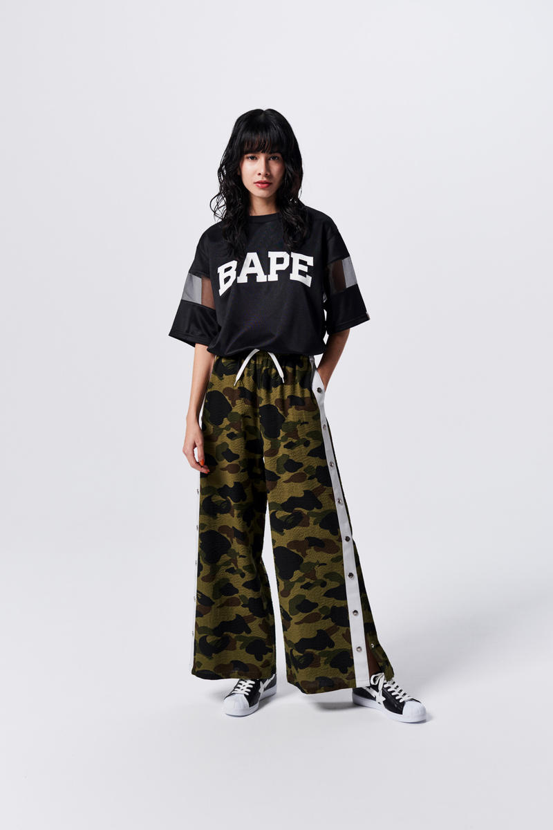 A Bathing Ape Spring Summer 2019 Collection Lookbook T-shirt Black Pants Camo Green