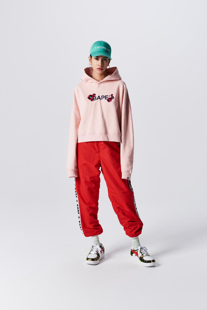 A Bathing Ape Spring Summer 2019 Collection Lookbook Hoodie Pink Pants Red