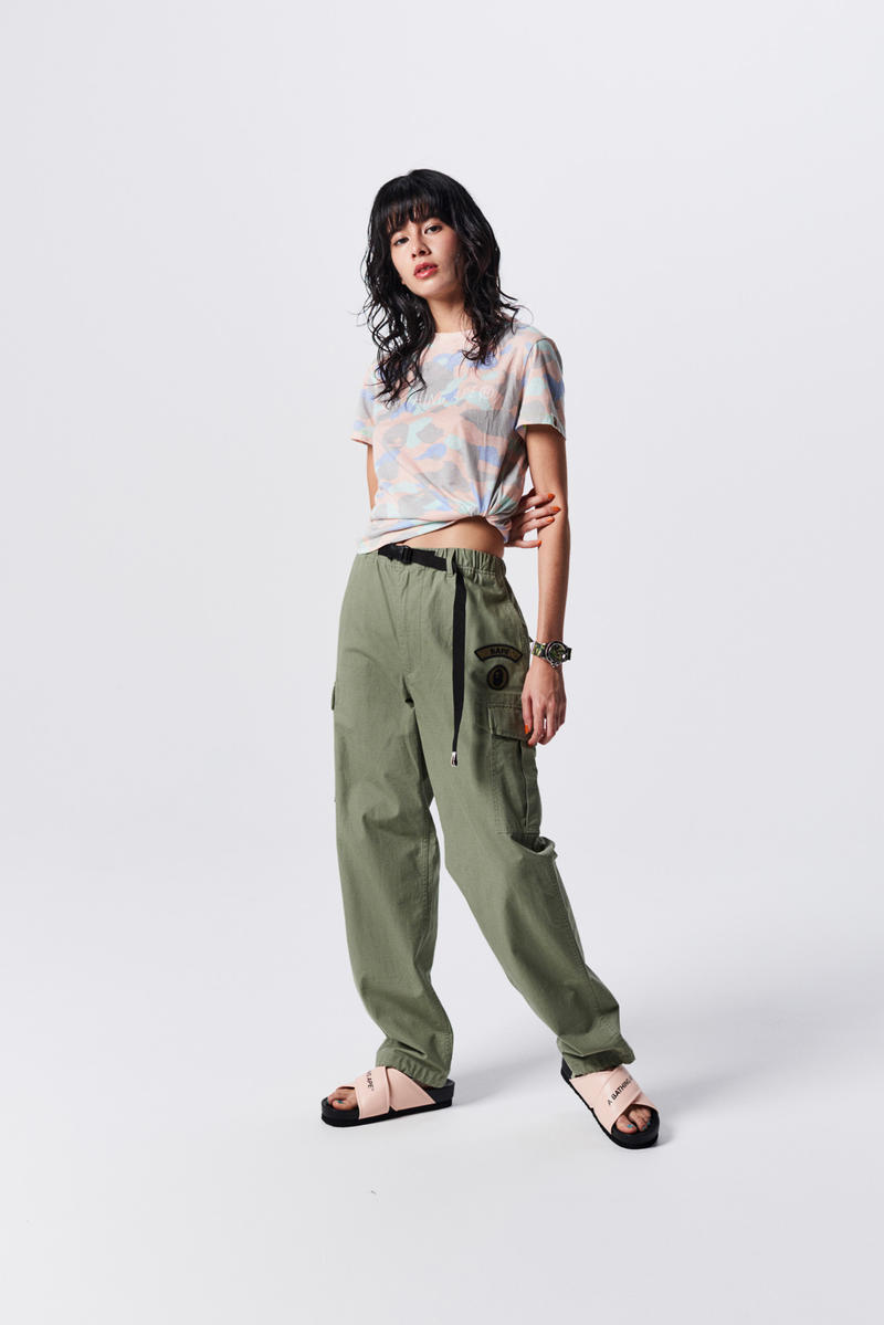 A Bathing Ape Spring Summer 2019 Collection Lookbook Shirt Grey Pants Green