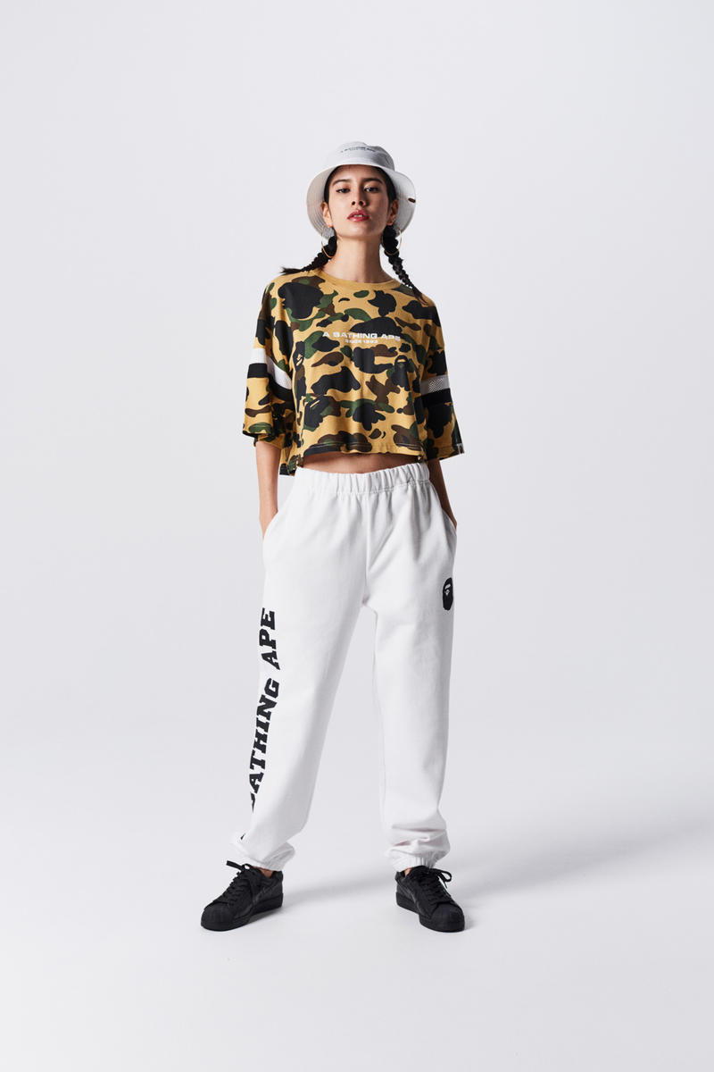 A Bathing Ape Spring Summer 2019 Collection Lookbook Camo Shirt Brown Tan Pants Grey